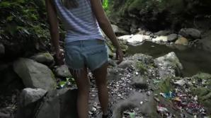 You take Tara to a waterfall, and fuck. She squirts all over.